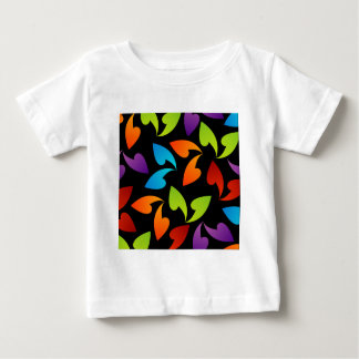rainbow colored background with leaves shirts