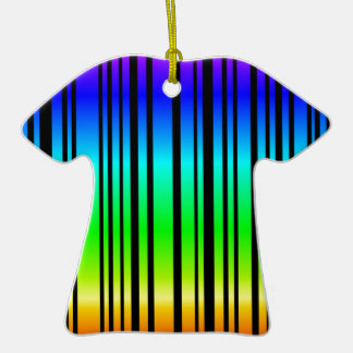 Rainbow colored bar code Double-Sided T-Shirt ceramic christmas ornament