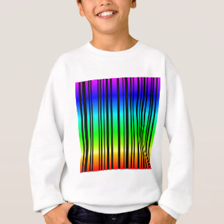 Rainbow colored bar code sweatshirt