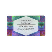 Rainbow Colored Blue and Green Tree Label (<em>$3.15</em>)