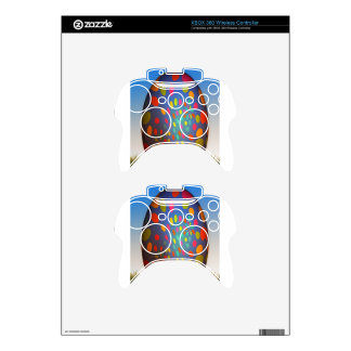 Rainbow Colored Blue Fractal Easter Egg Xbox 360 Controller Skin