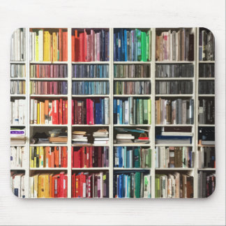 Rainbow Colored Books Mouse Pad