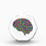 """Rainbow Colored Brain Prismatic Art Award<br><div class=""""desc"""">This item features an amazingly awesome design of a colorful prismatic brain that&#39;s sure to impress!  Makes a great gift!   Perfect for graduations!  For more items with great designs like this one check out https://www.zazzle.com/prismaticbliss.</div>"""