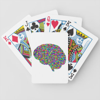 Rainbow Colored Brain Prismatic Art Bicycle Playing Cards