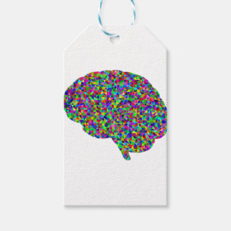 Rainbow Colored Brain Prismatic Art Gift Tags