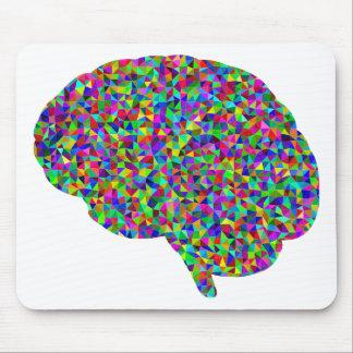 Rainbow Colored Brain Prismatic Art Mouse Pad