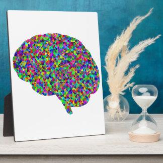 Rainbow Colored Brain Prismatic Art Plaque