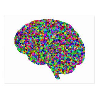 Rainbow Colored Brain Prismatic Art Postcard