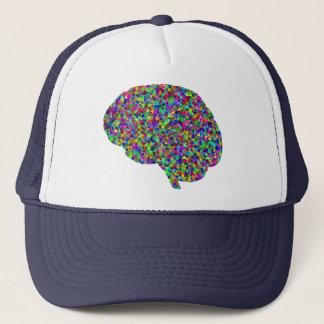 Rainbow Colored Brain Prismatic Art Trucker Hat