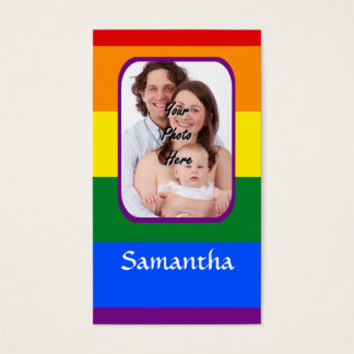 Rainbow colored business card
