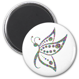 Rainbow Colored Butterfly Prismatic Art Magnet