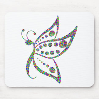 Rainbow Colored Butterfly Prismatic Art Mouse Pad