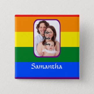 Rainbow colored button
