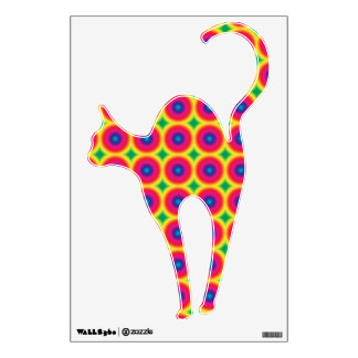 Rainbow Colored Chat Noir Room Decal