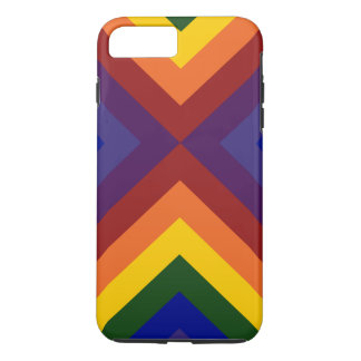 Rainbow Colored Chevrons iPhone 7 Plus Case