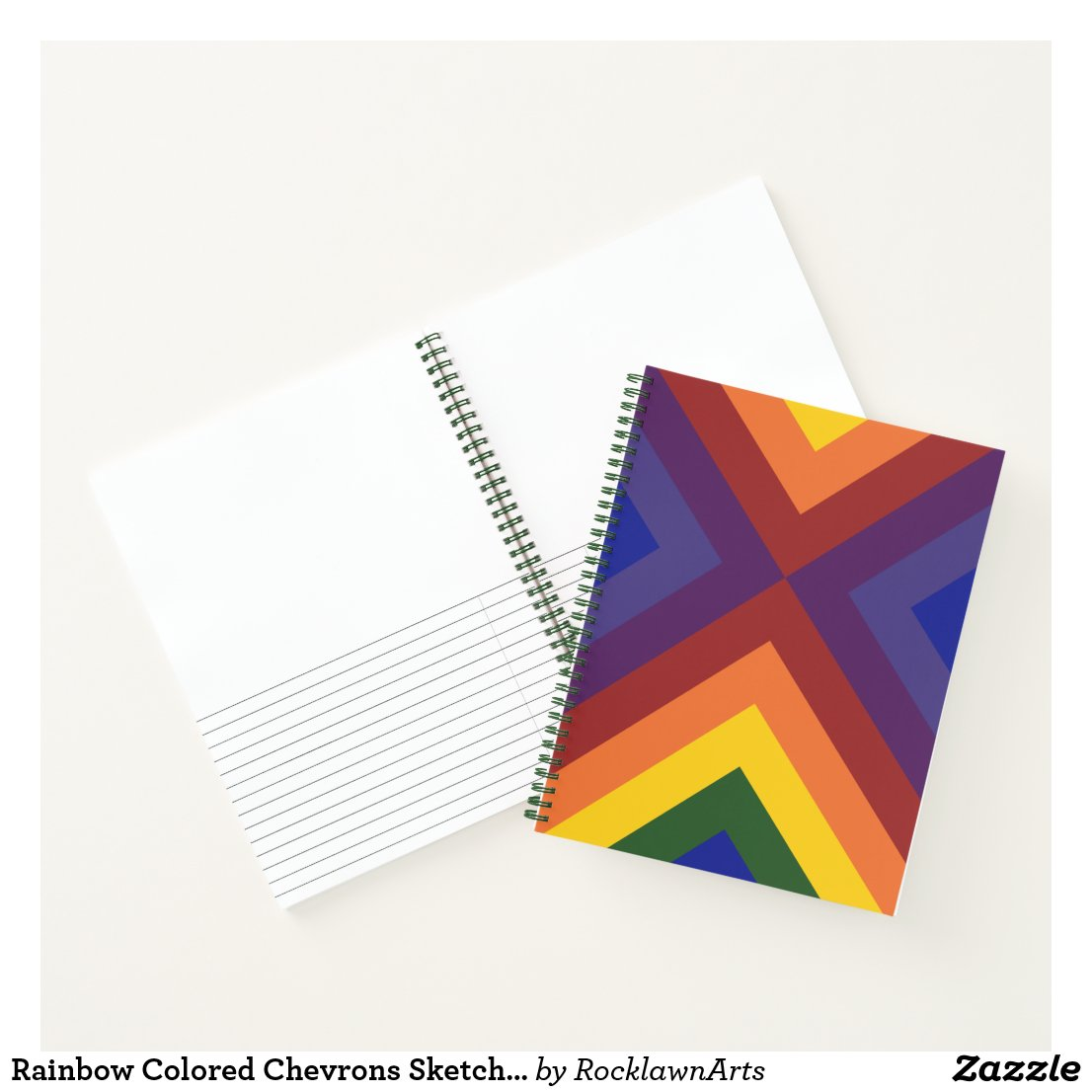 Rainbow Colored Chevrons Sketch Notes Notebook