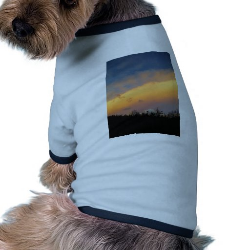 Rainbow colored clouds dog t-shirt