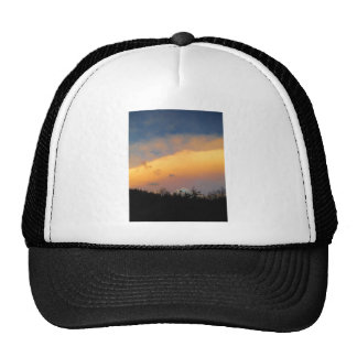 Rainbow colored clouds trucker hat
