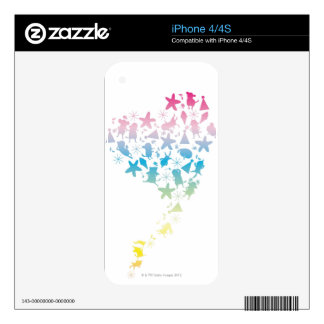 Rainbow Colored Dogs and Stars iPhone 4 Decals