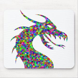 Rainbow Colored Dragon's Head Prismatic Art Mouse Pad
