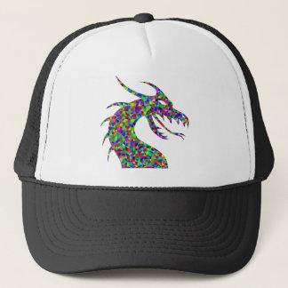 Rainbow Colored Dragon's Head Prismatic Art Trucker Hat