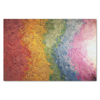 "Rainbow Colored Energy Stripes 10"" X 15"" Tissue Paper"