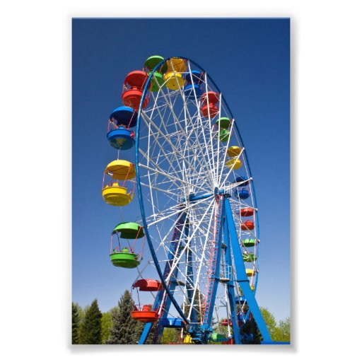 Rainbow Colored Ferris Wheel Photo Art