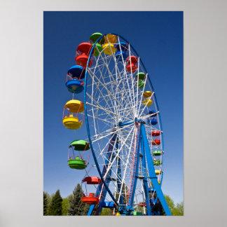 Rainbow Colored Ferris Wheel Print