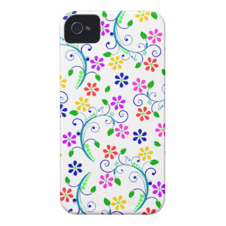 Rainbow-Colored Floral Design Phone Cover iPhone 4 Cover
