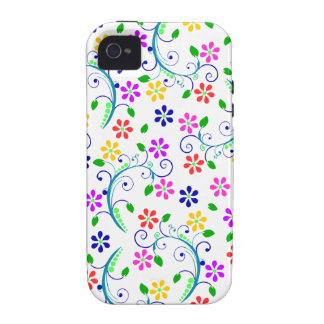 Rainbow-Colored Floral Design Phone Cover Case-Mate iPhone 4 Cover