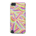 Rainbow-colored Fun Doodle Lines iPod Touch (5th Generation) Covers