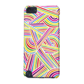 Rainbow-colored Fun Doodle Lines iPod Touch 5G Cover