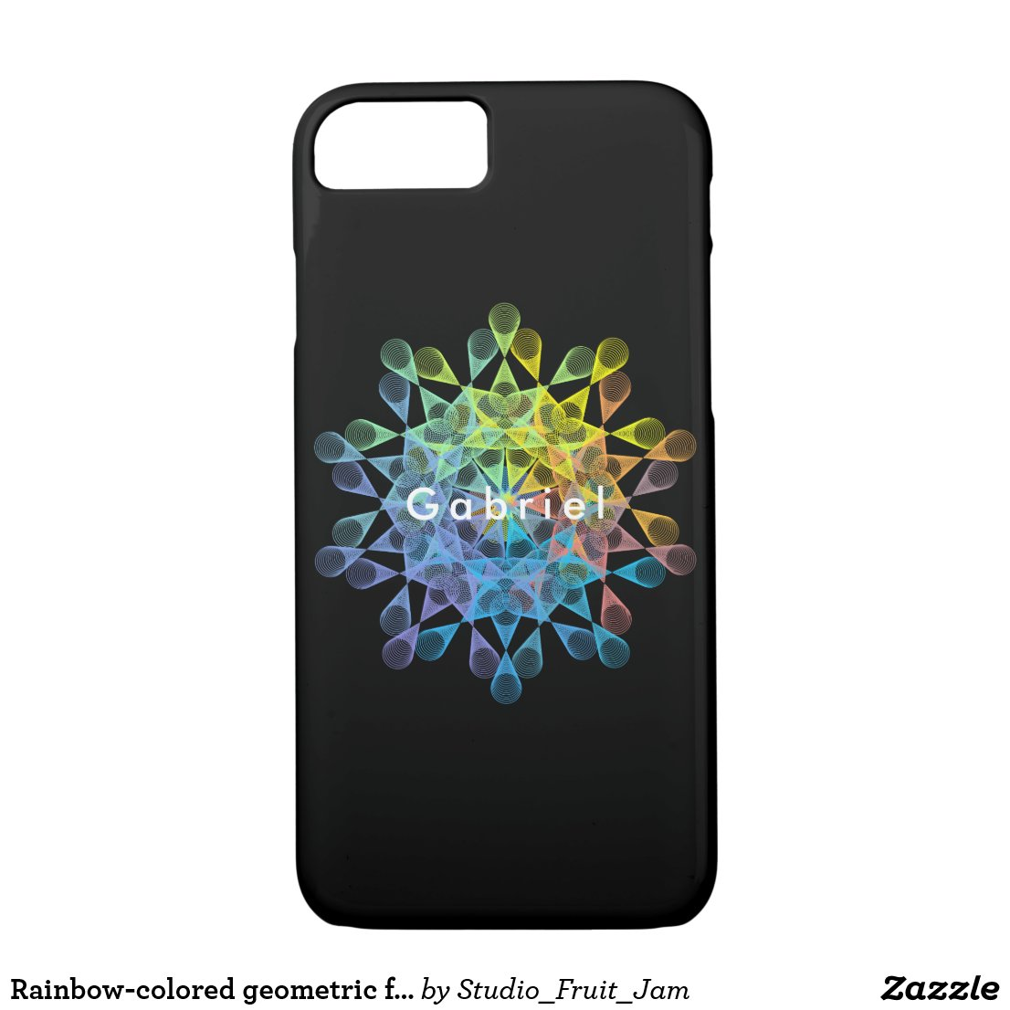Rainbow-colored geometric figure of epitrochoid iPhone 8/7 case
