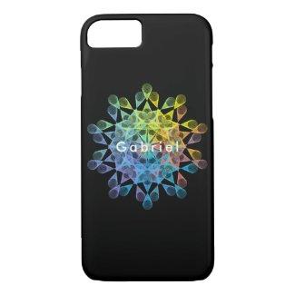 Rainbow-colored geometric figure of epitrochoid iPhone 8/7 case