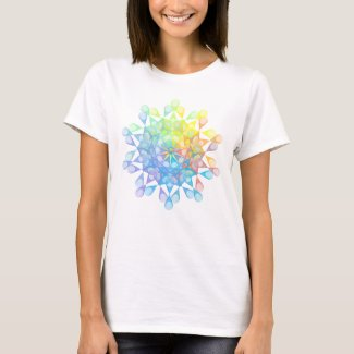 Rainbow-colored geometric figure of epitrochoid T-Shirt
