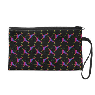 Rainbow Colored Giraffe Wristlet