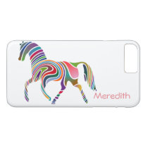 Rainbow colored girly magical horse iPhone 8 plus/7 plus case