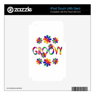 Rainbow Colored Groovy Skin For iPod Touch 4G