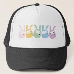 Rainbow Colored Gumdrop Bunnies Trucker Hat