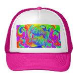 Rainbow Colored Halibut Hats