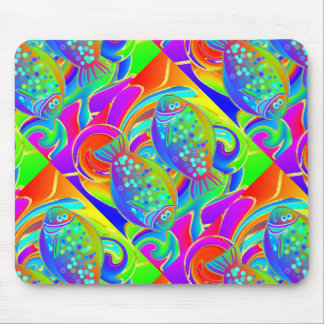 Rainbow Colored Halibut Mouse Pad