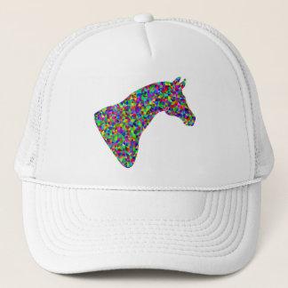 Rainbow Colored Horse Head Prismatic Art Trucker Hat