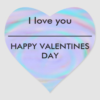 Rainbow Colored I Love You Valentines Day Sticker