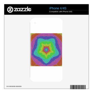 Rainbow Colored Kaleidoscope iPhone 4S Skin