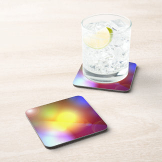 Rainbow Colored Lens Flare Drink Coaster