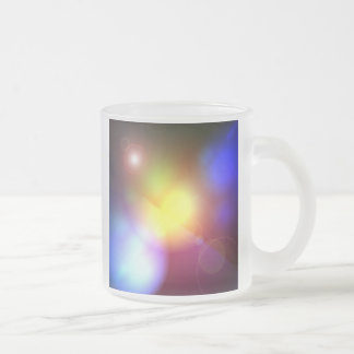 Rainbow Colored Lens Flare Frosted Glass Coffee Mug
