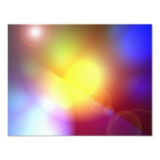 Rainbow Colored Lens Flare 4.25x5.5 Paper Invitation Card