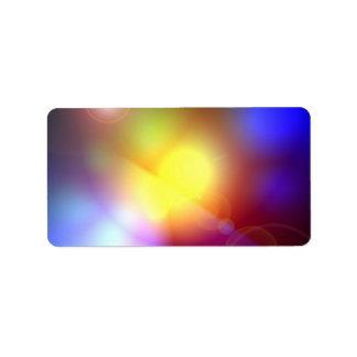 Rainbow Colored Lens Flare Address Label