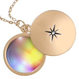 Rainbow Colored Lens Flare Locket Necklace