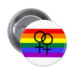 Rainbow Colored Lesbian Pride Flag Buttons